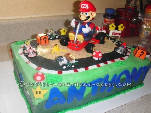 Coolest Mario Kart Birthday Cake