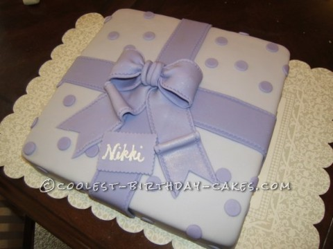 Coolest Polka Dots Gift Cake