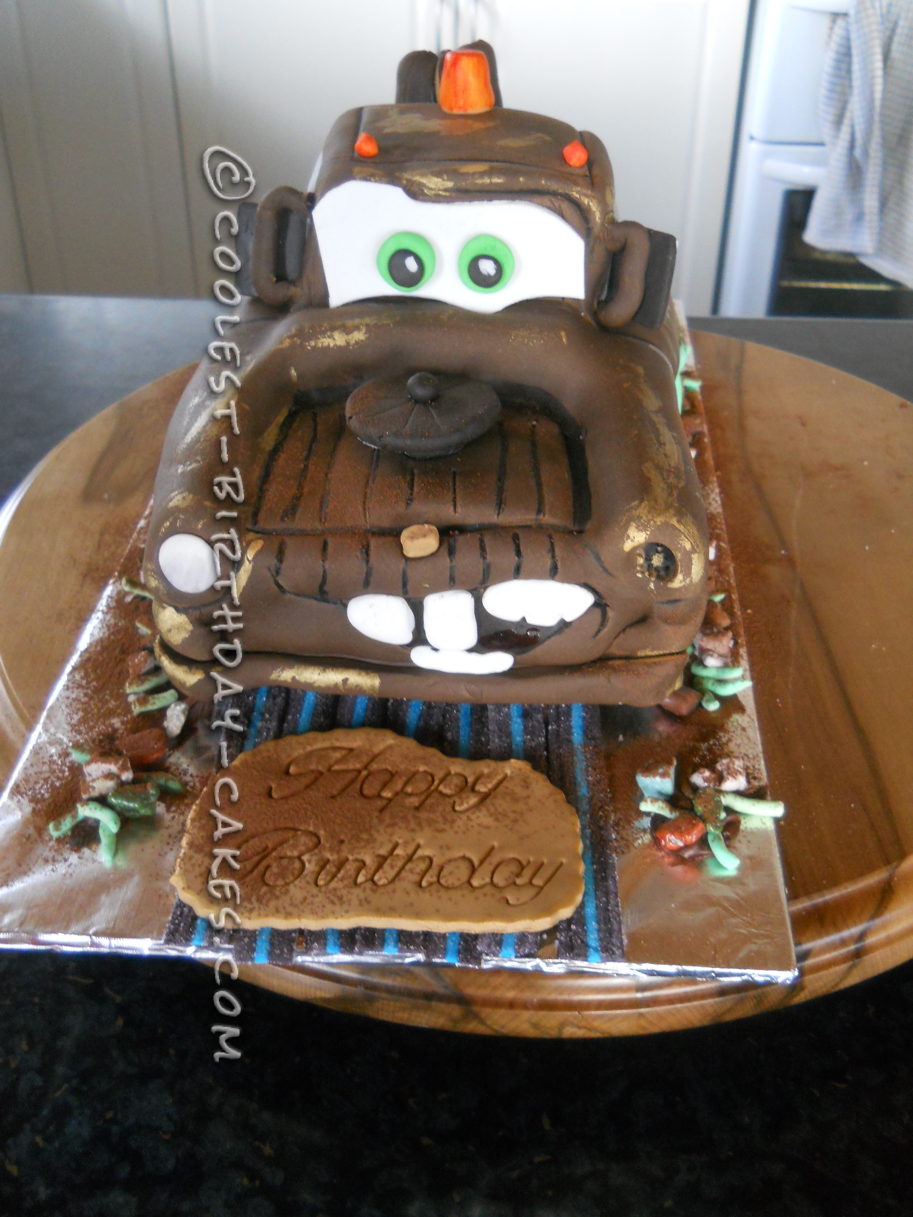 Admirable Mater The Tow Truck Cake Funny Birthday Cards Online Alyptdamsfinfo