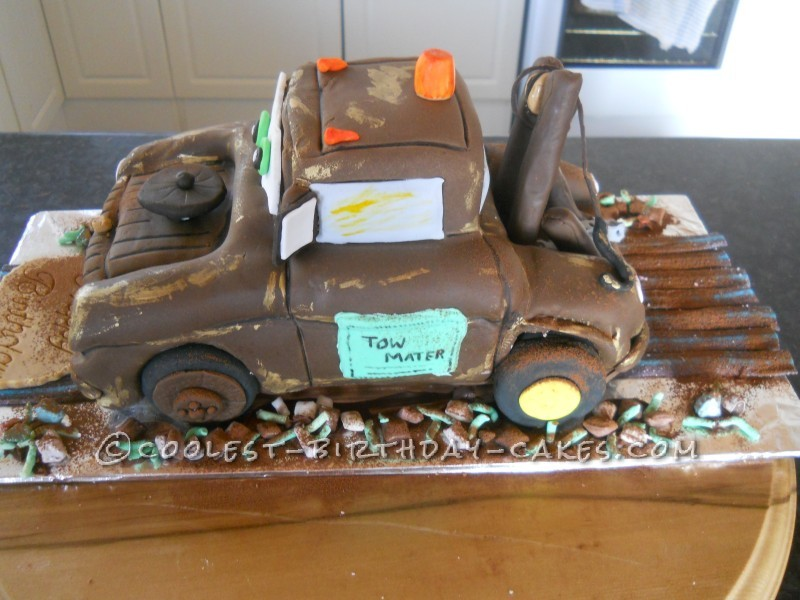 Enjoyable Mater The Tow Truck Cake Personalised Birthday Cards Sponlily Jamesorg