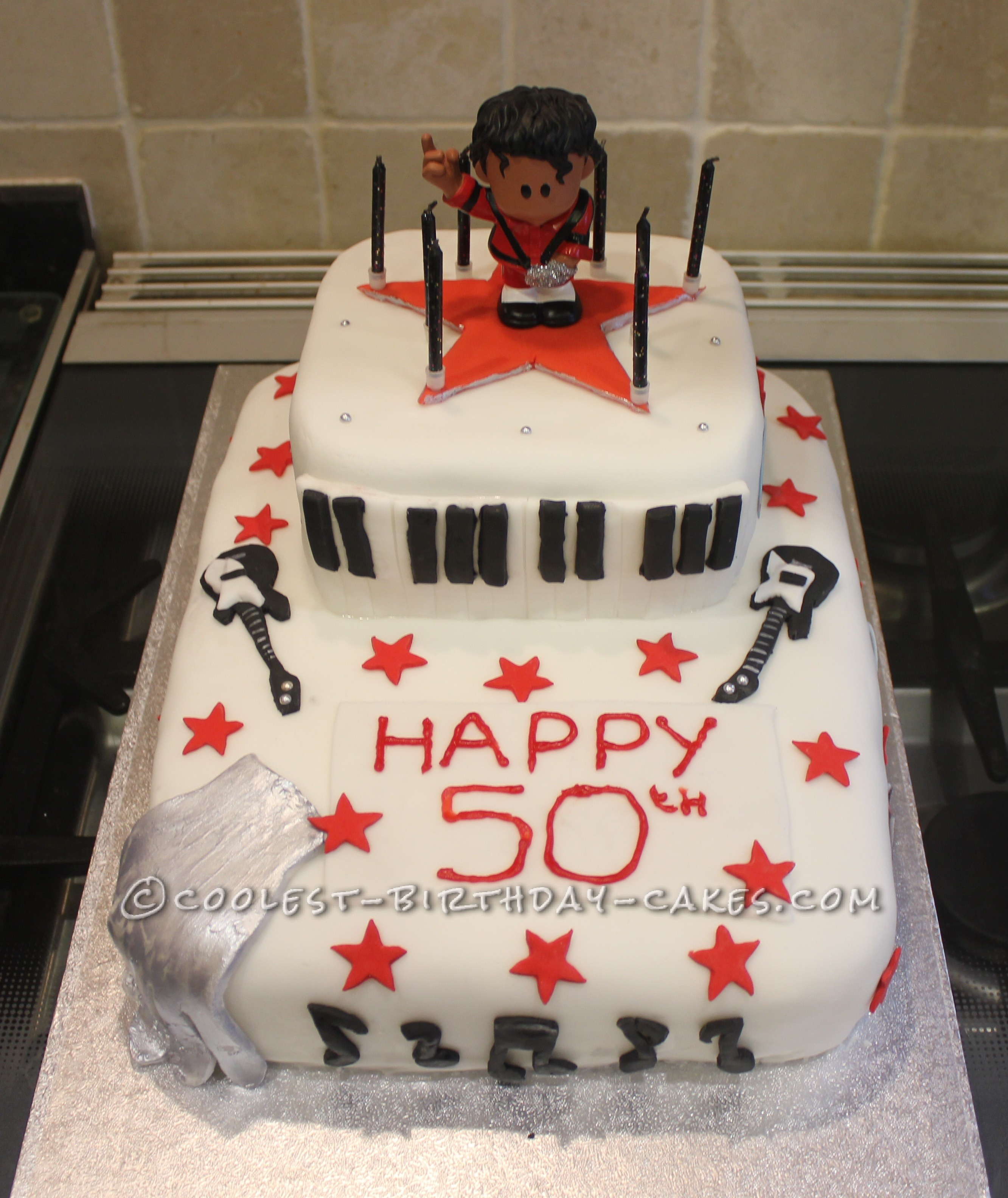 Michael Jackson 50th Birthday Cake