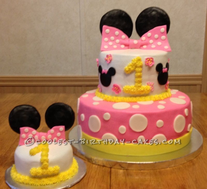 Cool Coolest Minnie Mouse 1St Birthday Cake Birthday Cards Printable Riciscafe Filternl