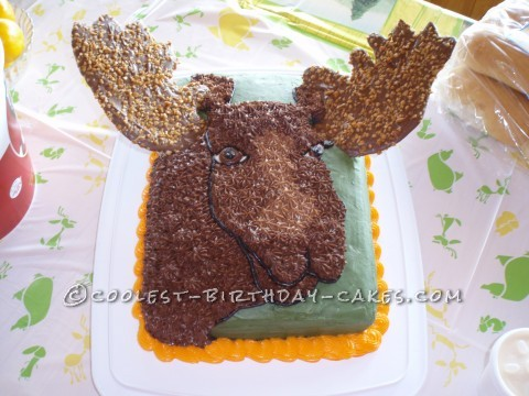 Moose Cake for The Mighty Hunter