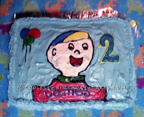 My Caillou Fan's Last-Minute Birthday Cake
