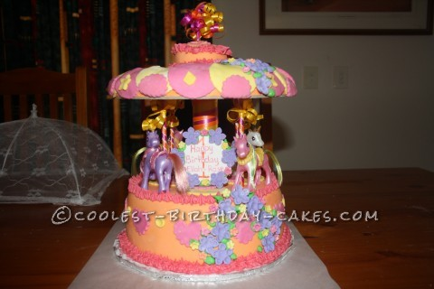 My Little Pony Merry-Go-Round Cake