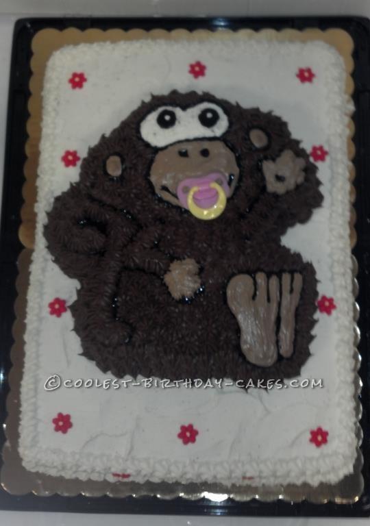 Cool Monkey Baby Shower Cake