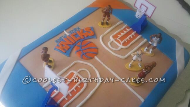 Coolest NY Knicks Basketball Cake