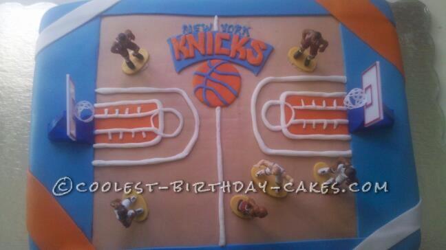 Coolest NY Knicks Basketball Cake