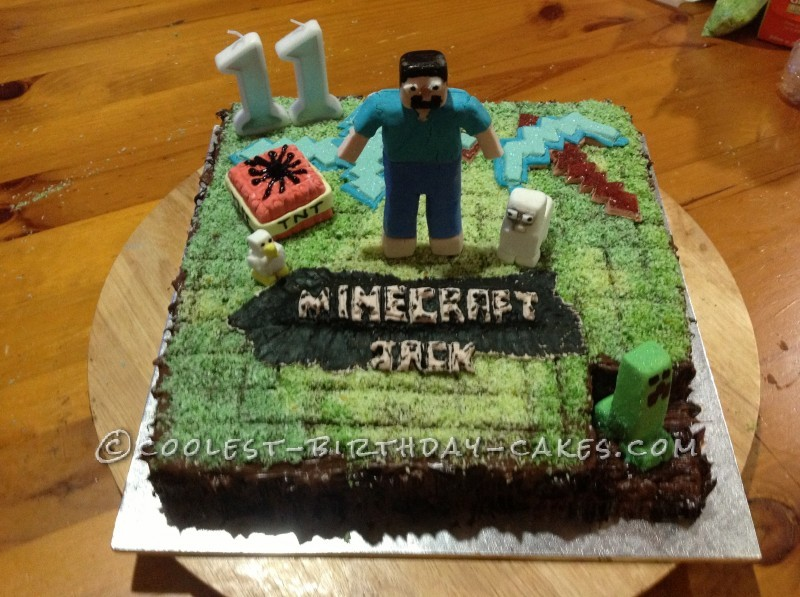 Fine 30 Coolest Homemade Minecraft Cakes For Birthday Parties Funny Birthday Cards Online Alyptdamsfinfo