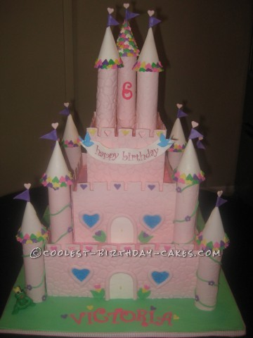 Over The Top Princess Castle Cake
