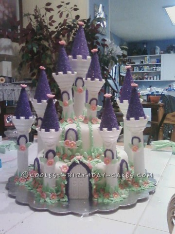 Awesome Purple Princess Palace Birthday Cake