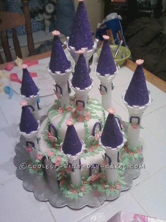 Awesome Purple Princess Palace Birthday Cake