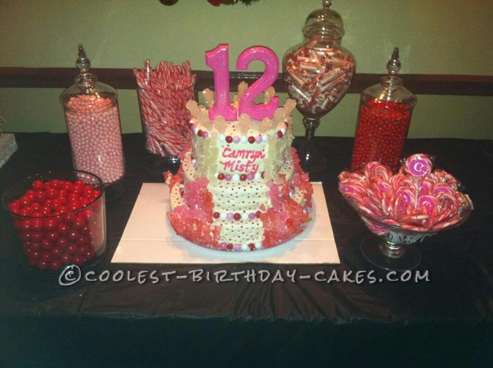 Cool Rock Candy Cake