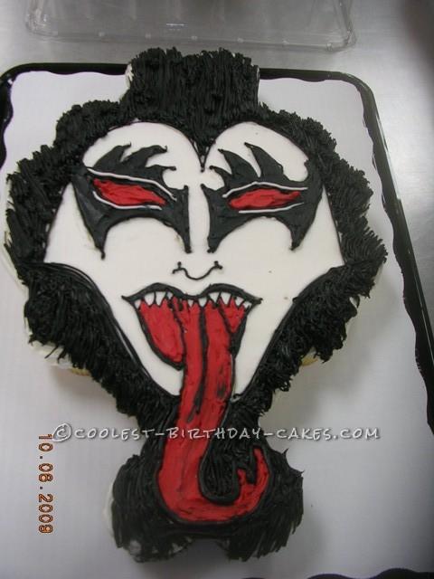 Astonishing Coolest Rock Star Kiss Cake Funny Birthday Cards Online Overcheapnameinfo
