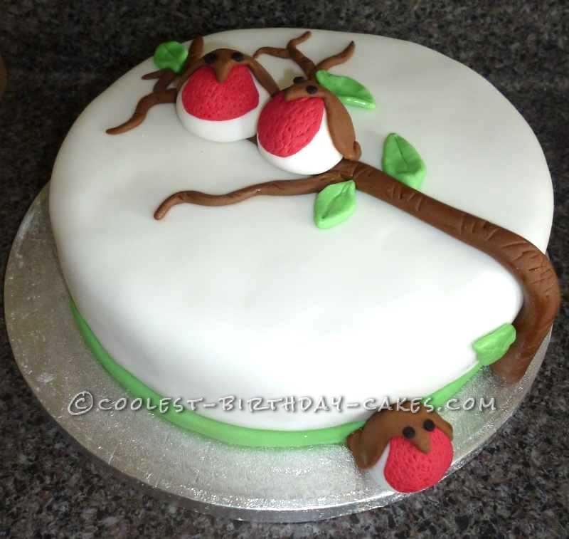 Cool Rockin Robin Christmas Cake