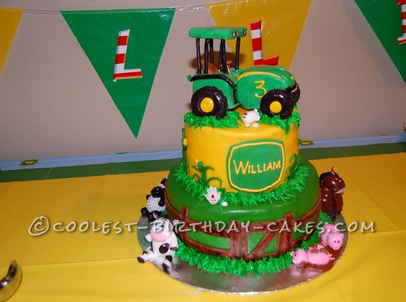 Coolest Farming Scene Birthday Cake