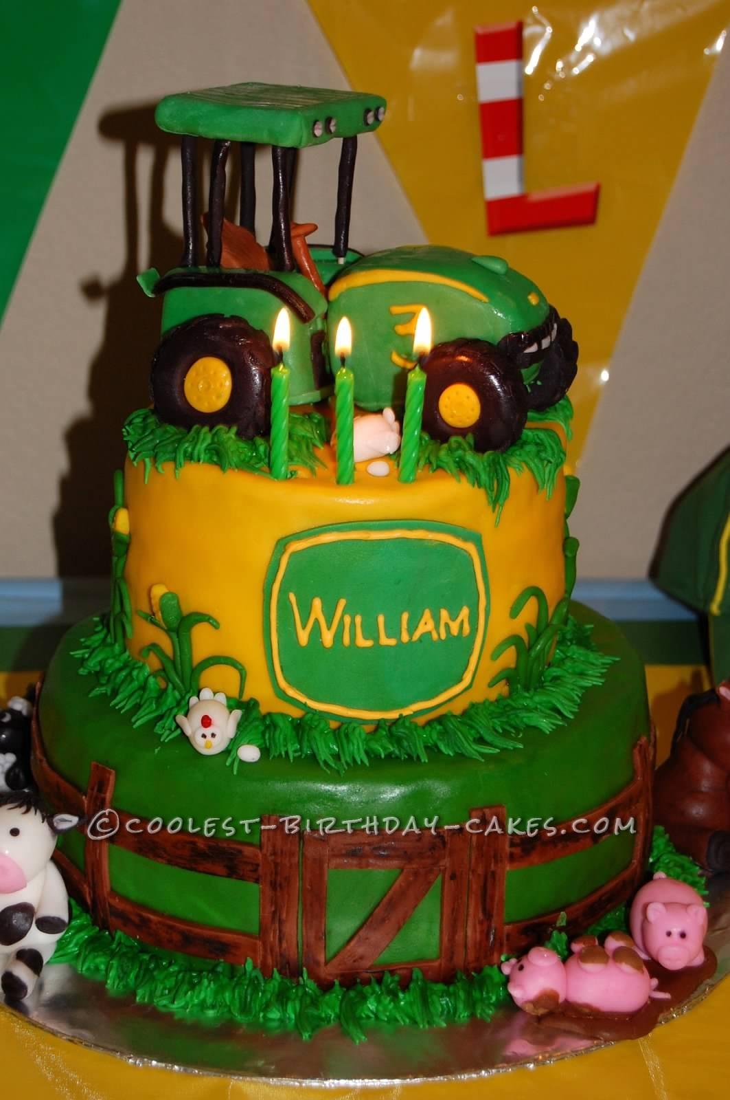 Coolest Farming Scene Birthday Cake