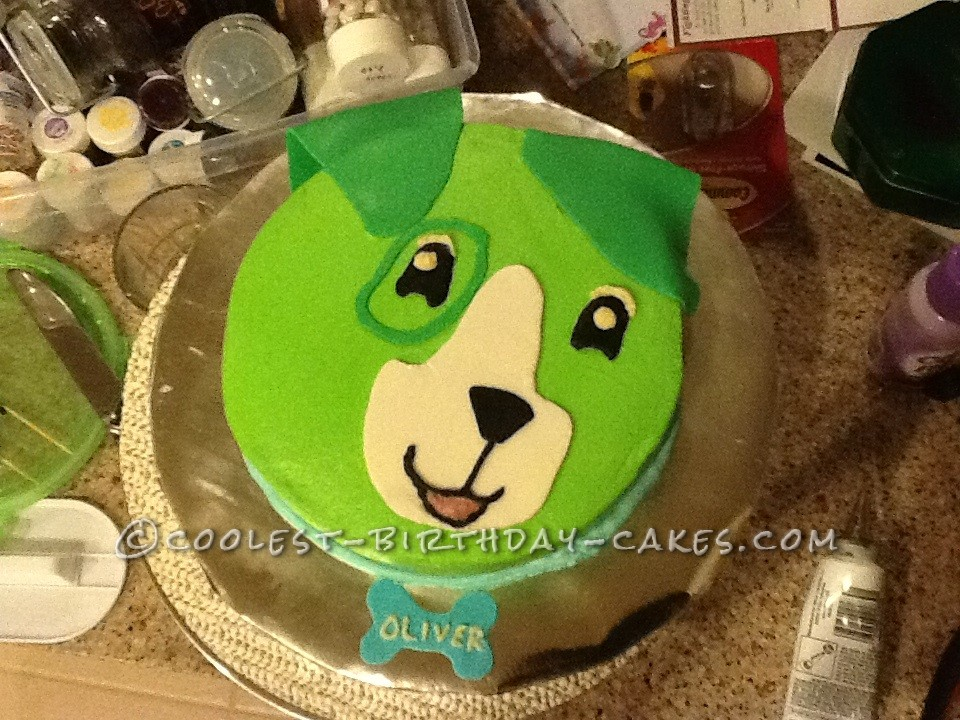 Scout The Leapfrog Dog Cake