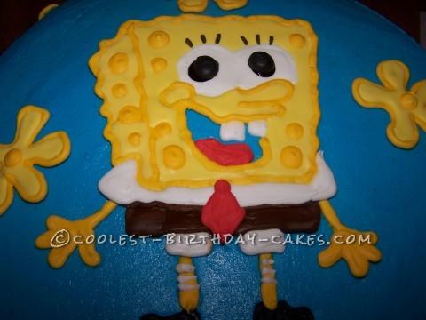 Awesome Sponge Bob Cake For Little Girl Personalised Birthday Cards Xaembasilily Jamesorg