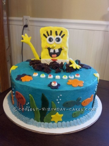Spongebob Surprise Birthday Cake