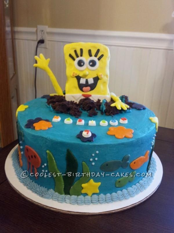 Brilliant Spongebob Surprise Birthday Cake Funny Birthday Cards Online Drosicarndamsfinfo