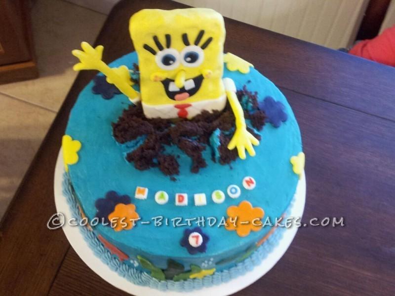 Spongebob Surprise Birthday Cake