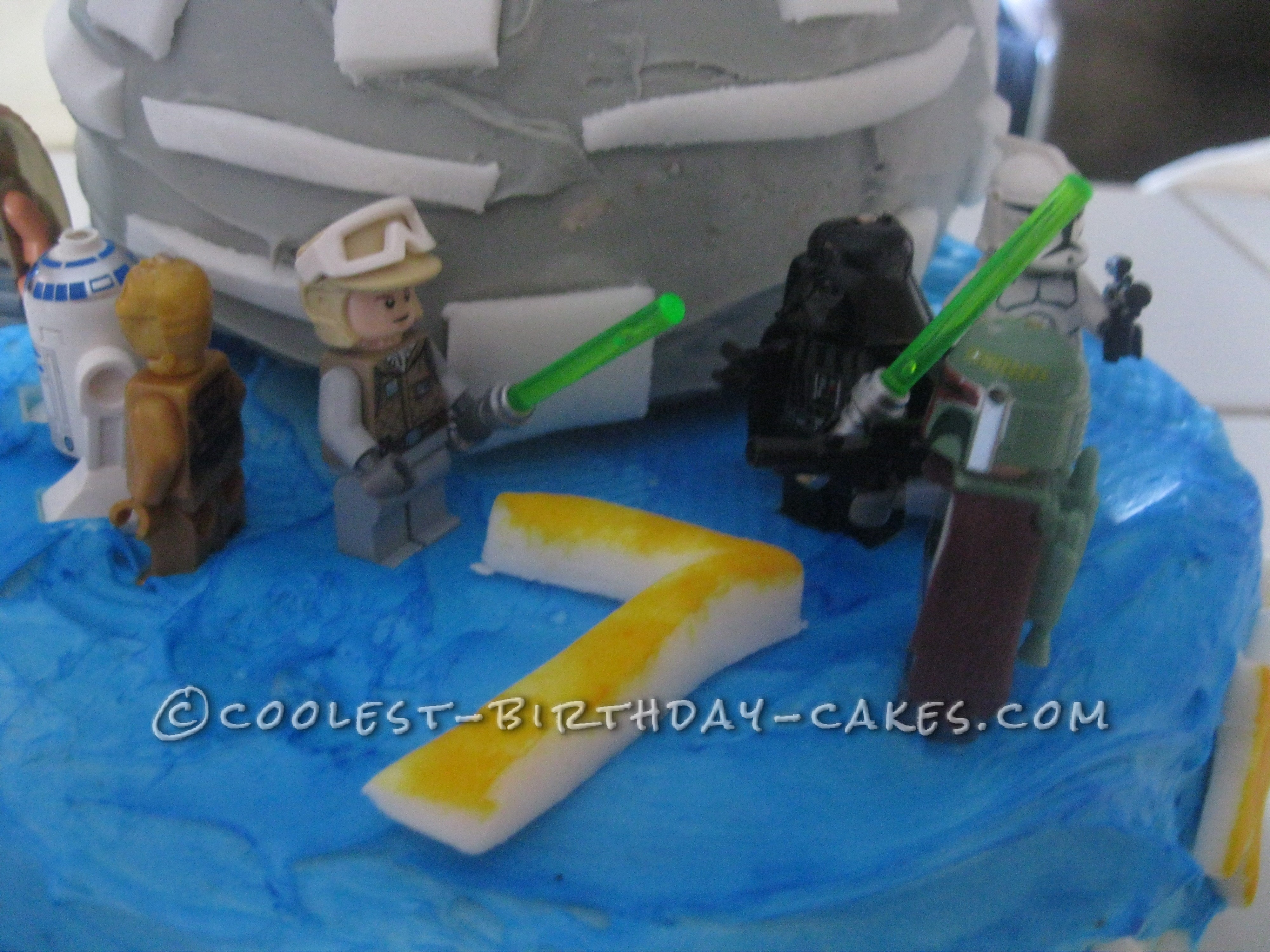 Star Wars Death Star Birthday Cake for my 'Lil Skywalker