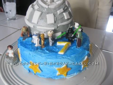 Star Wars Death Star Birthday Cake for my 'Lil Skywalker