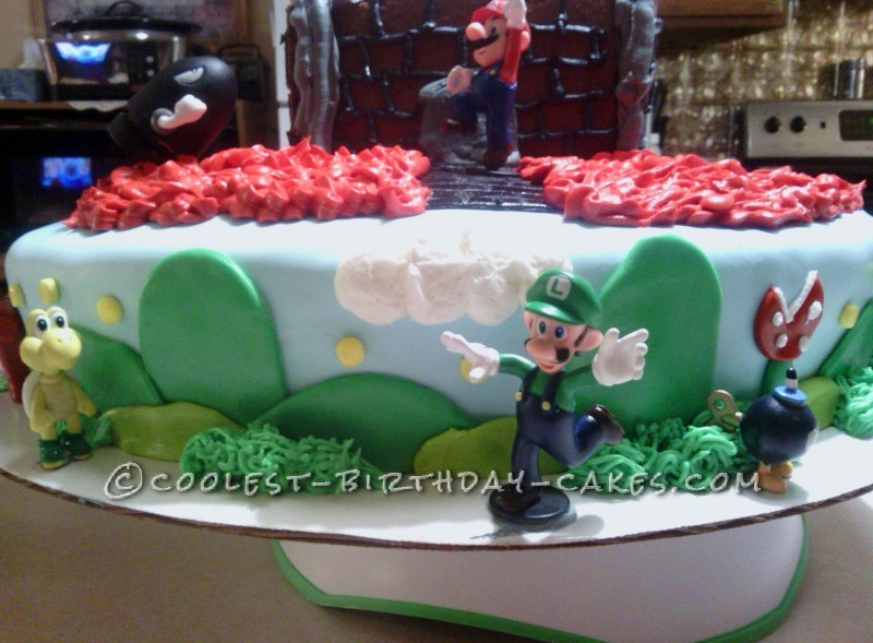 Super Mario Wii Birthday Cake