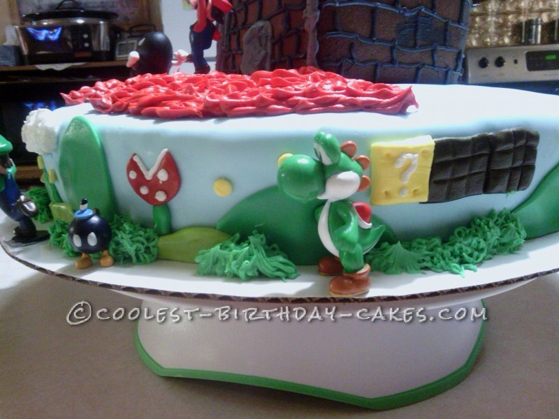 Super Mario Wii Birthday Cake