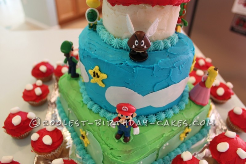 Superest Super Mario Birthday Cake No Fondant Required