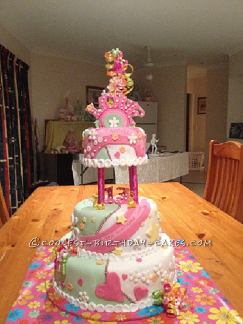 Hippie Style Birthday Cake