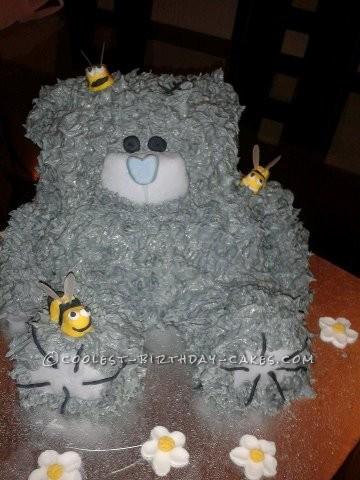 Superb Teddy Bear Birthday Cake Funny Birthday Cards Online Aeocydamsfinfo