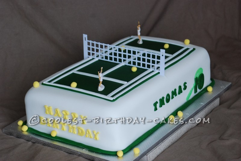 Wondrous Awesome Tennis Cake For Three Boys Funny Birthday Cards Online Alyptdamsfinfo