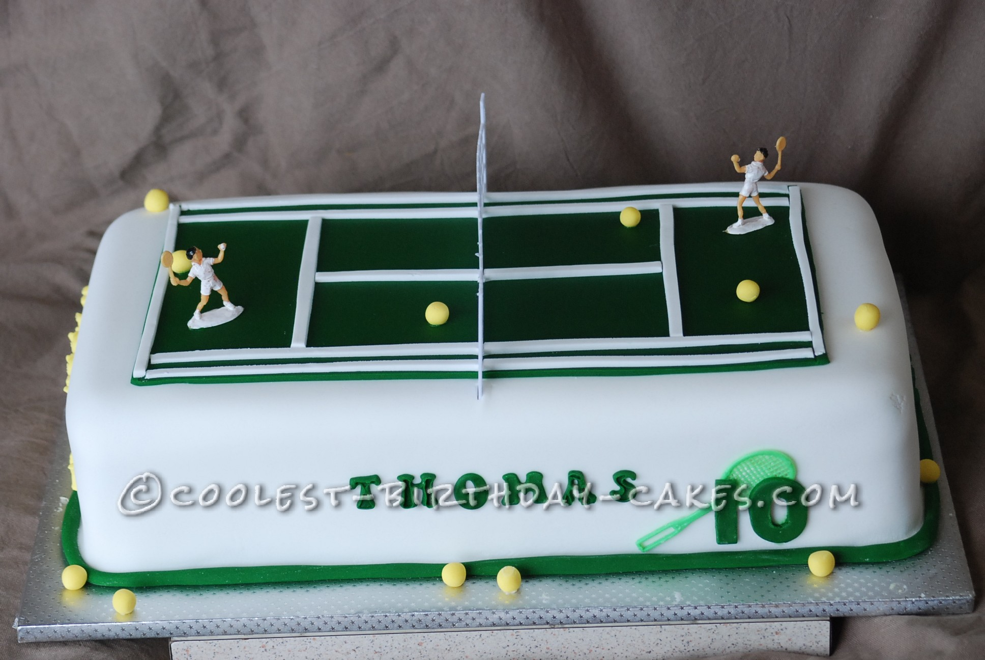 Awesome Tennis Cake For Three Boys