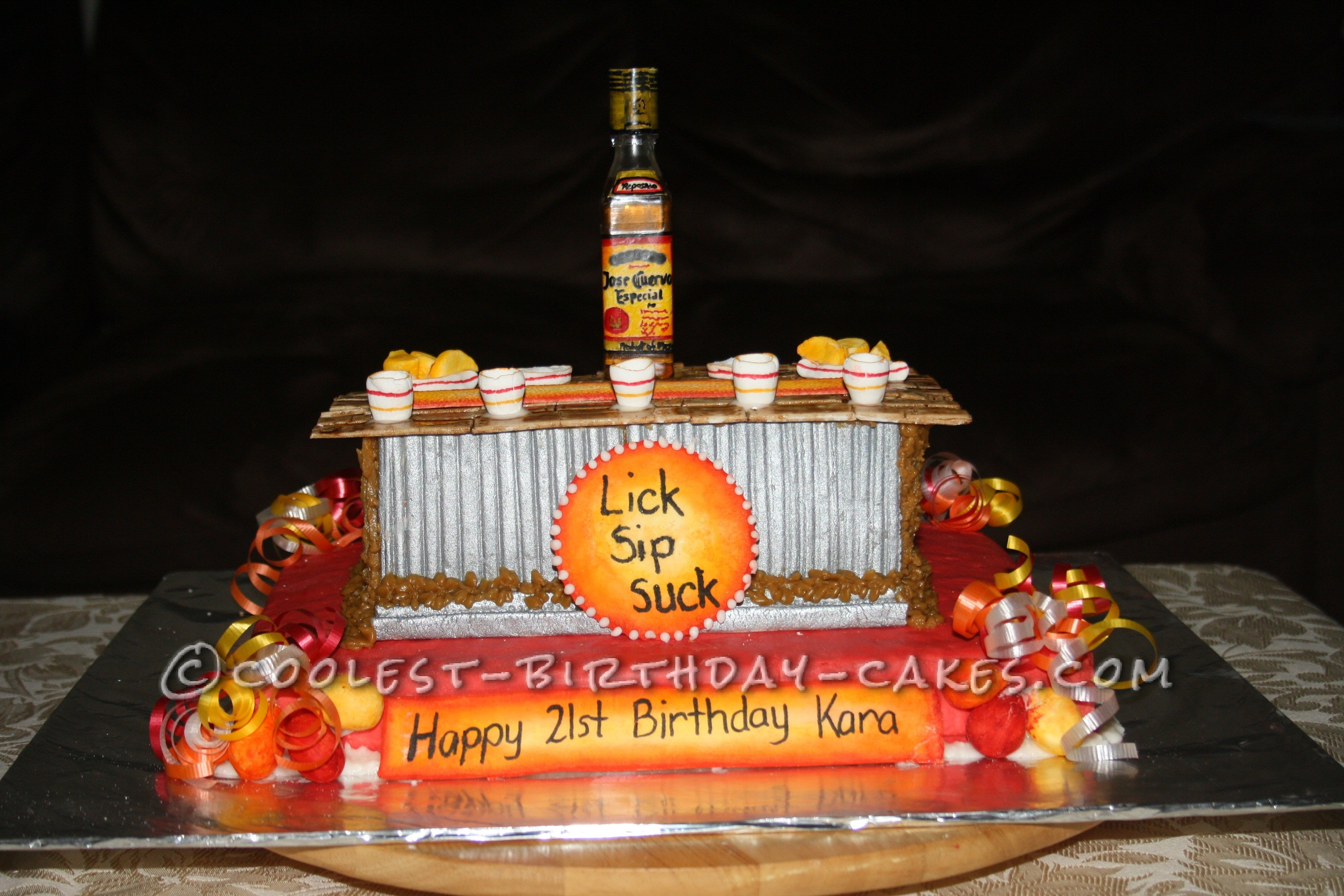 Cool Tequila Bar Cake For A 21st Birthday