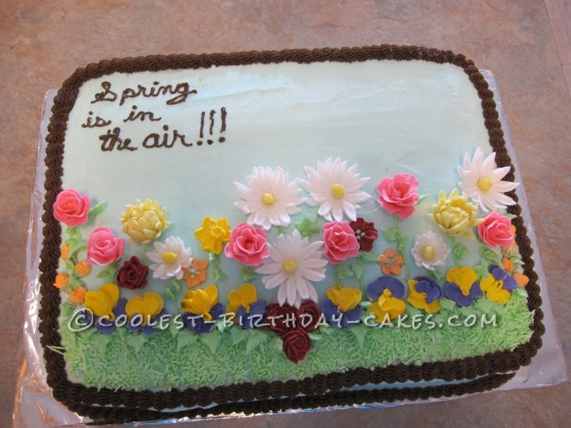 Homemade Spring Flowers Cake That Raised $600!