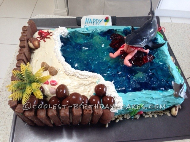 Stupendous Awesome Hungry Shark Birthday Cake Funny Birthday Cards Online Sheoxdamsfinfo