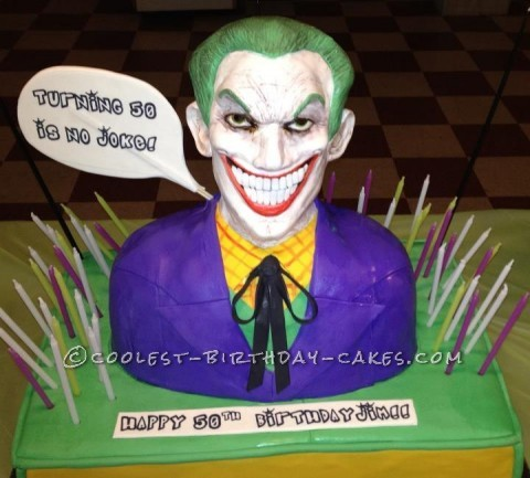 The Joker 50th Birthday Cake