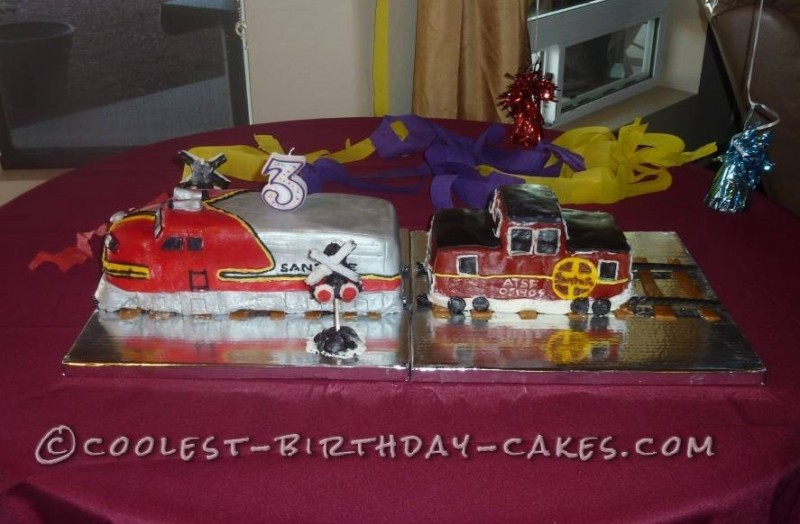 The Legendary Santa Fe Super Chief 3rd Birthday Cake