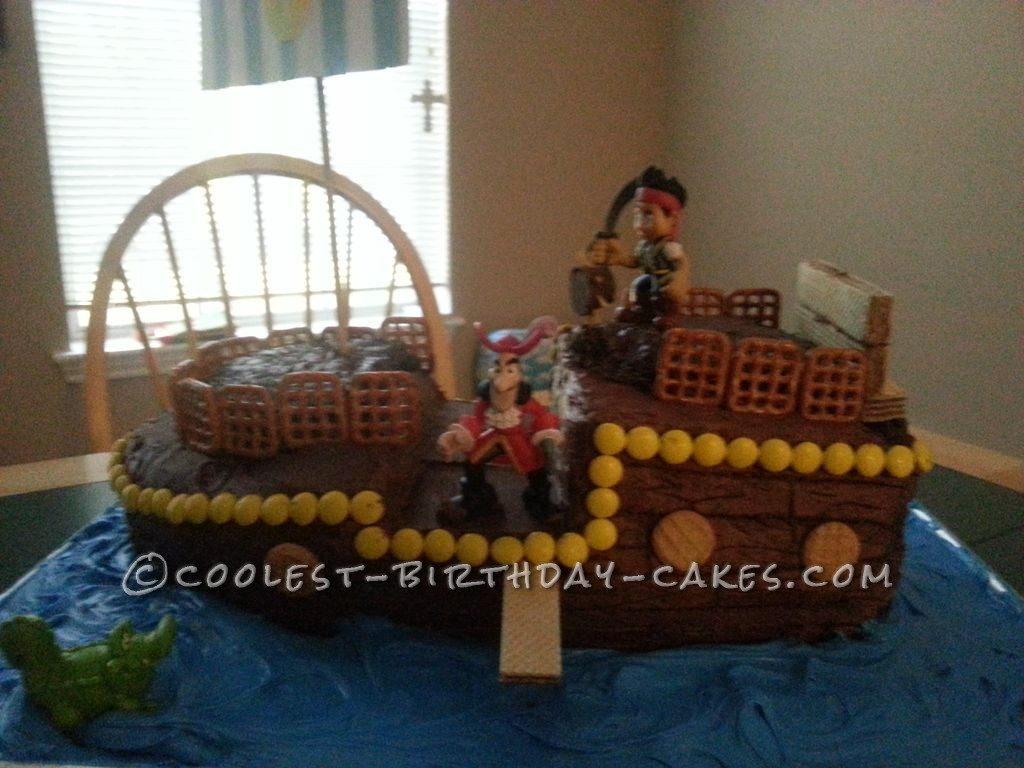 Amazing Pirate Cake for my 3 Year Old Grandson