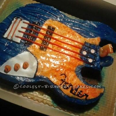 Cool Guitar Birthday Cake That Rocks