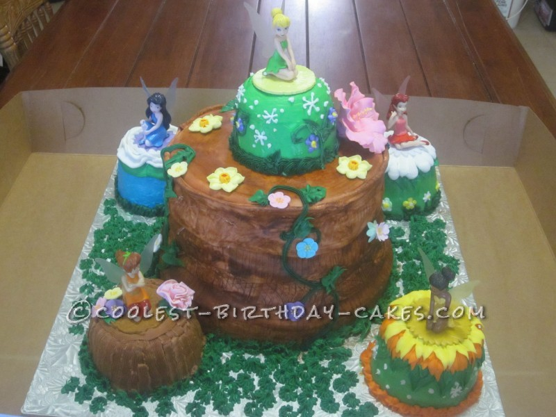 Tinkerbell and Friends Forest Cake
