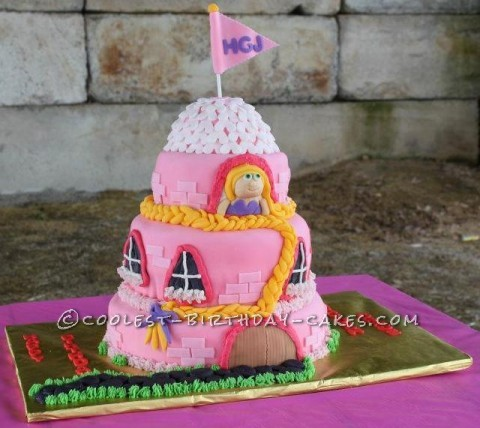 Niece Hayden's Rapunzel cake for her 5th Birthday
