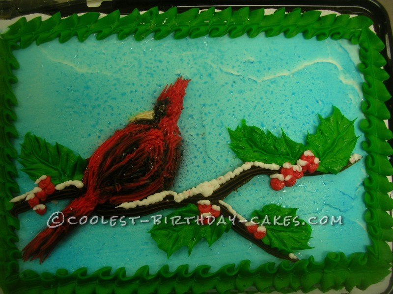 What's Christmas Without a Red Cardinal Cake?