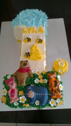 Winnie the Pooh Cake for 1st Birthday