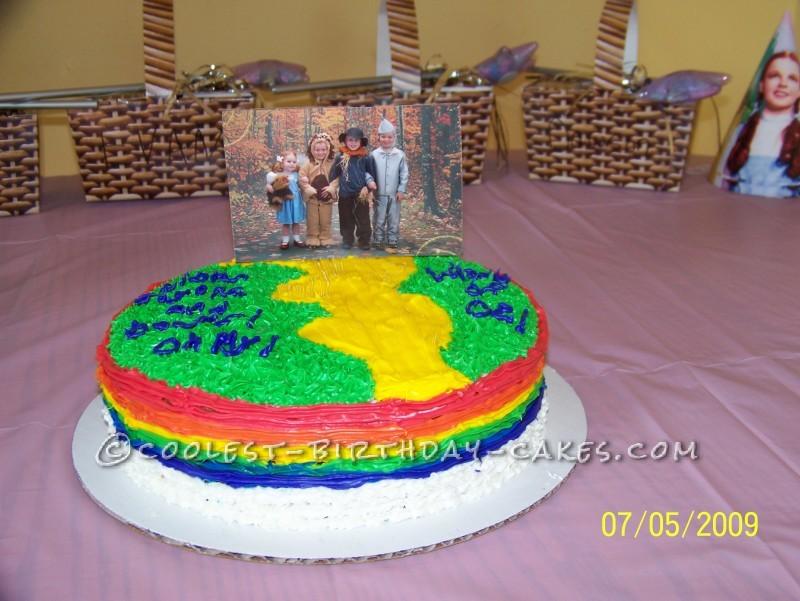 Wizard of Oz Yellow Brick Road Cake