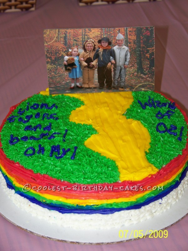 Wizard of Oz Yellow Brick Road Cake