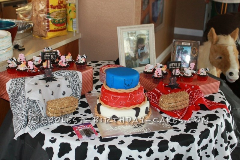Awesome Birthday Cake For A Cowgirl Personalised Birthday Cards Bromeletsinfo