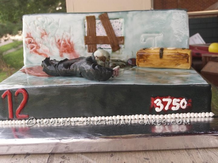 Awesome Call Of Duty Zombies Birthday Cake Funny Birthday Cards Online Inifodamsfinfo